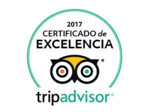 Certificado de Excelencia TripAdvisor 2017